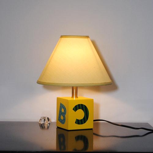 Tischleuchte Sorpetaler 19071510 Kinderleuchte ABC gelb