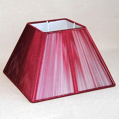 Lampenschirm Sorpetaler Leuchten SSS 20.04 Quadrat rot