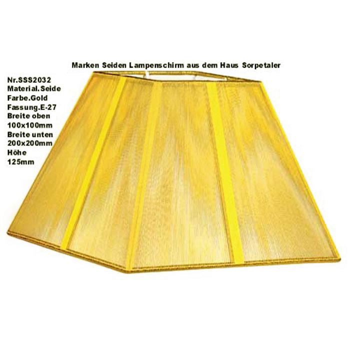 Lampenschirm Sorpetaler Leuchten SSS 20.32 Quadrat gold