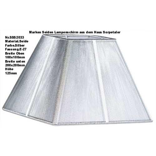 Lampenschirm Sorpetaler Leuchten SSS 20.33 Quadrat Silber