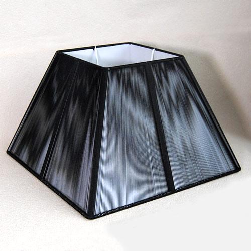 Lampenschirm Sorpetaler Leuchten SSS 25.05 Quadrat schwarz