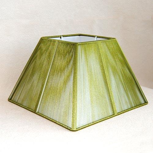 Lampenschirm Sorpetaler Leuchten SSS 25.08 Quadrat grün
