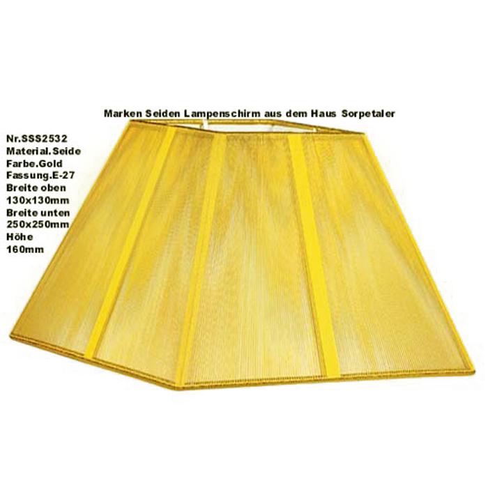 Lampenschirm Sorpetaler Leuchten SSS 25.32 Quadrat gold