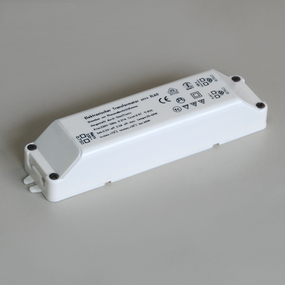 Elektronischer Transformator 12V max. 60VA OmniTronix EL60 weiß