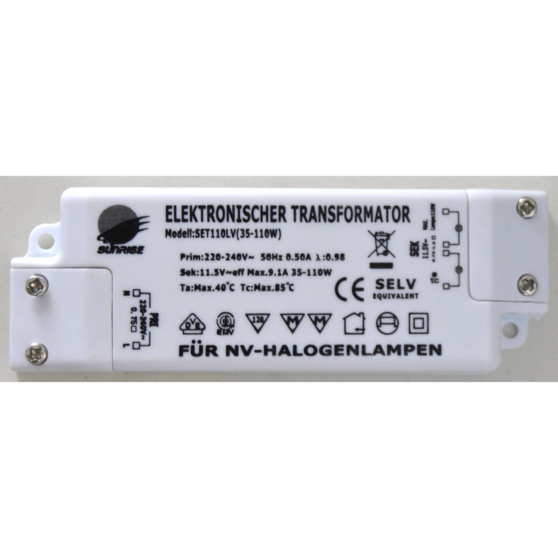 Elektronischer Transformator 12V 35 bis max. 105VA Sunrise Paulmann