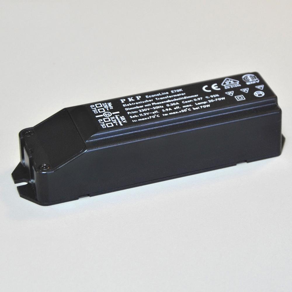 Elektronischer Transformator 12V max. 70VA PKP EconoLine E70K schwarz