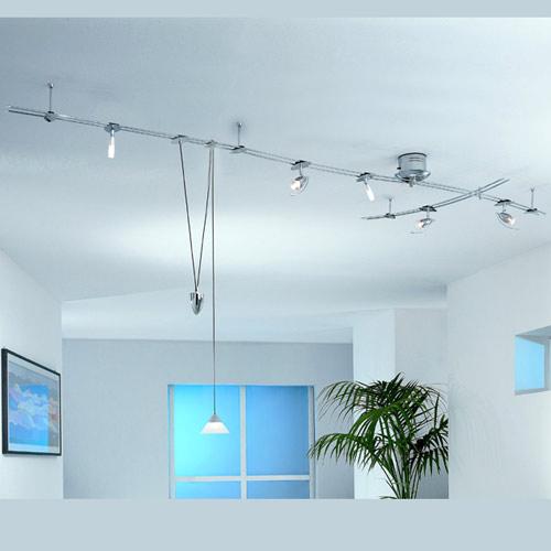 lampen schienensystem mit pendelleuchte