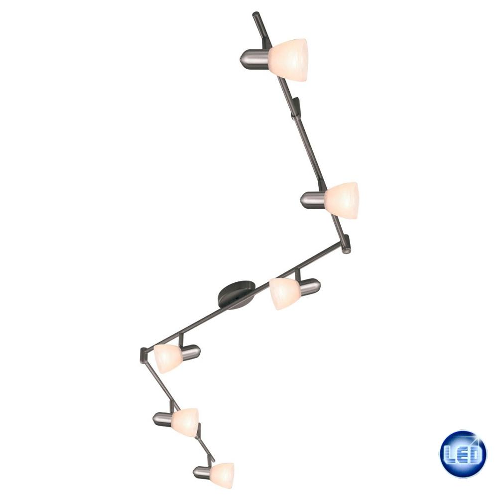 LED Deckenleuchte Eglo 59242899 6x5W Dimmbar Deckenlampe Badezimmer ...