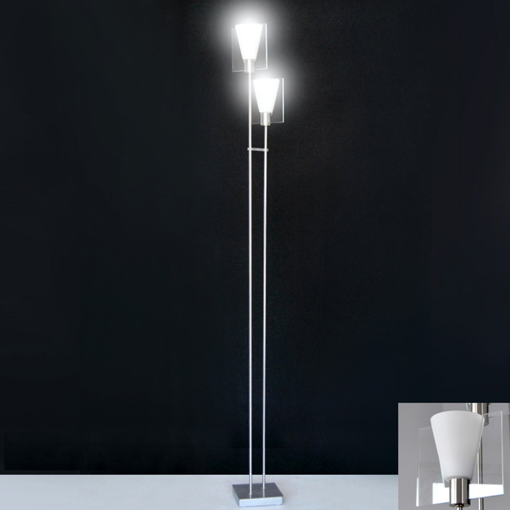 stehleuchten led 2x4w design stehlampe 1 63m e14 led boden. Black Bedroom Furniture Sets. Home Design Ideas