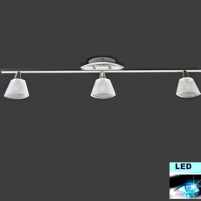 Led deckenleuchte 3x5w deckenlampe led spot leiste 77cm for Deckenlampe led strahler