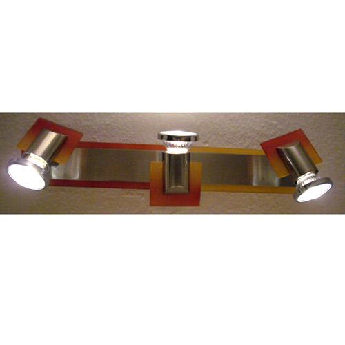 deckenleuchte deckenlampe wandleuchte stahl glas rot gelb. Black Bedroom Furniture Sets. Home Design Ideas