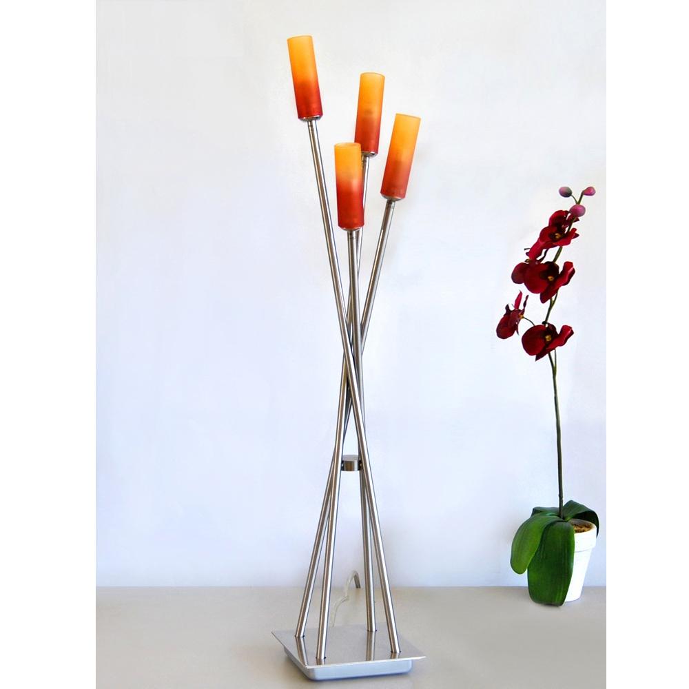 Tischleuchte Eglo 85854 Bix Glas rot-orange