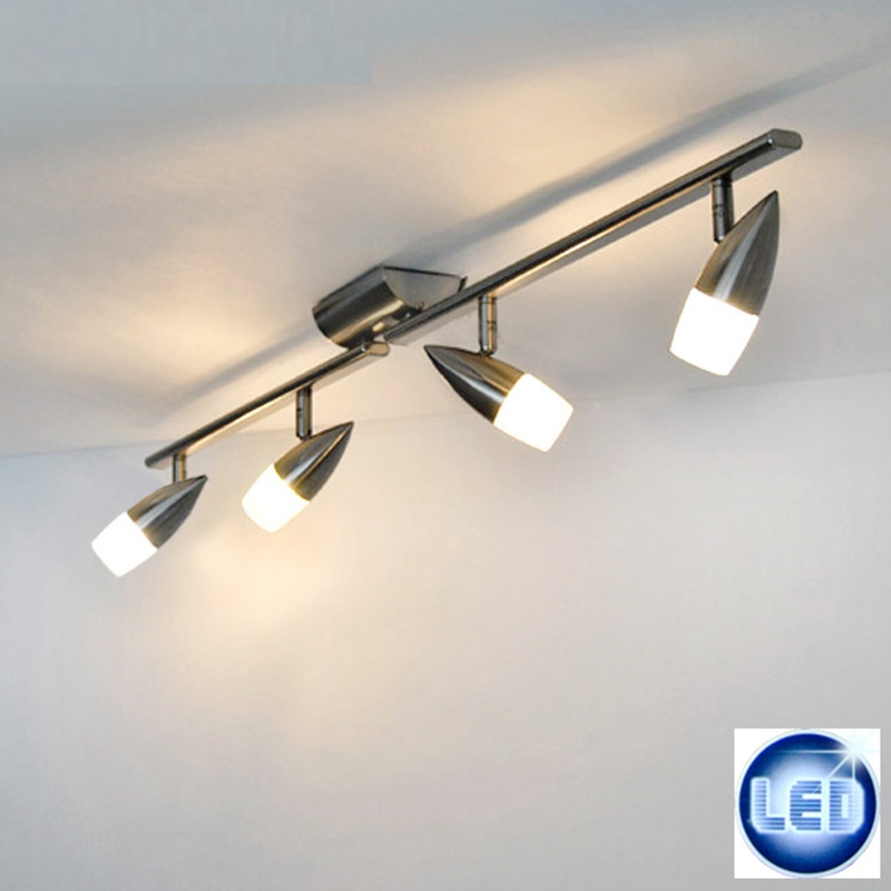led plafonnier suspension 4x5w eglo spot rails pour clairage lampe de salon ebay. Black Bedroom Furniture Sets. Home Design Ideas
