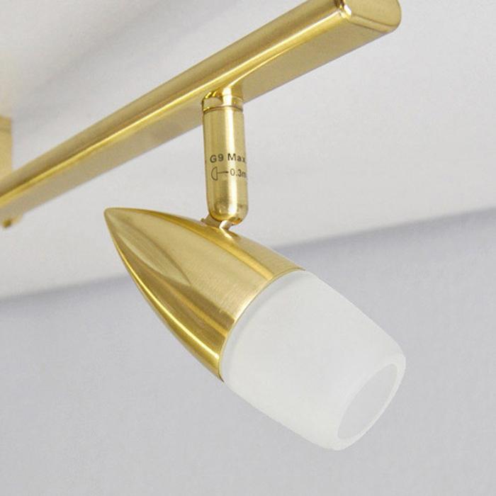 deckenleuchte led 4x5w deckenlampe 1 06m messing spot deckenleuchten neu ebay. Black Bedroom Furniture Sets. Home Design Ideas