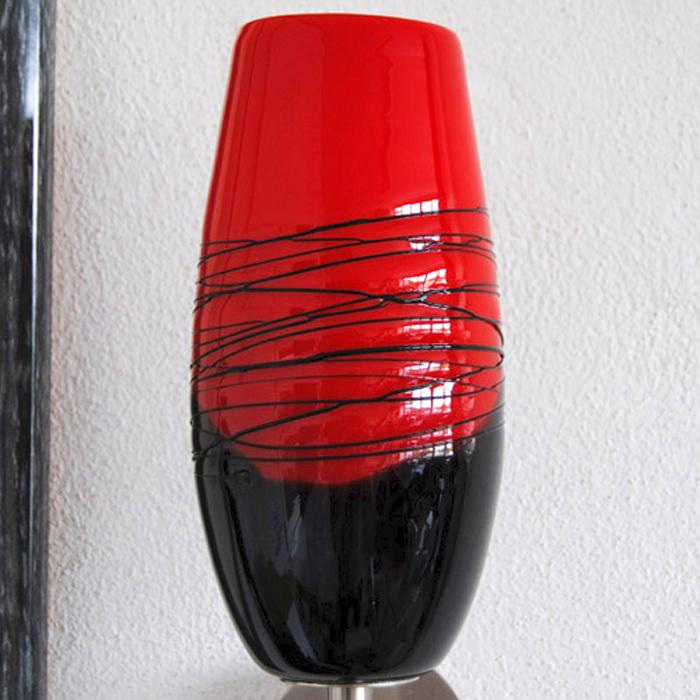 wandleuchten led 7w edelstahl rot schwarz designer. Black Bedroom Furniture Sets. Home Design Ideas