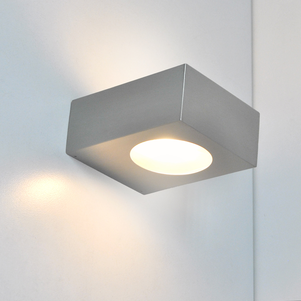 led wand au enleuchte 5w wandleuchte edelstahl up down. Black Bedroom Furniture Sets. Home Design Ideas