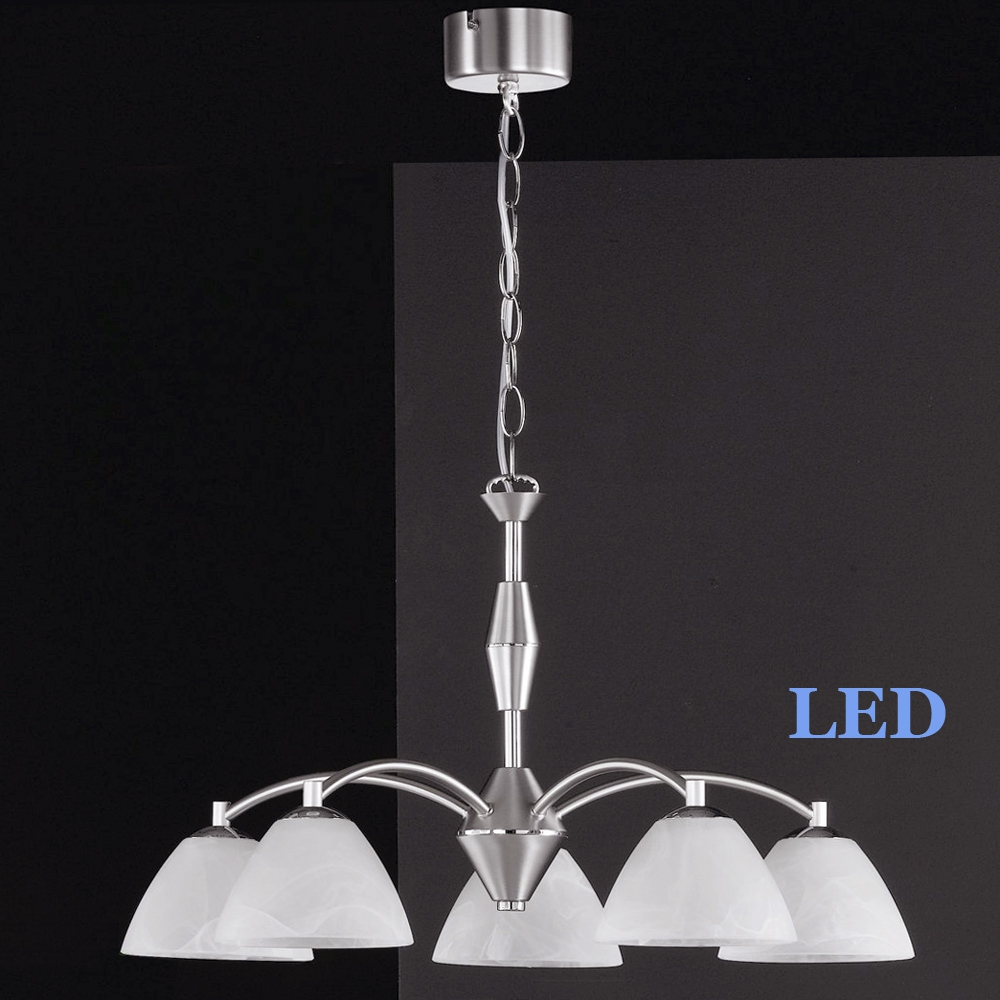 LED Pendelleuchte Honsel Leuchten Hedda 11775 mattnickel