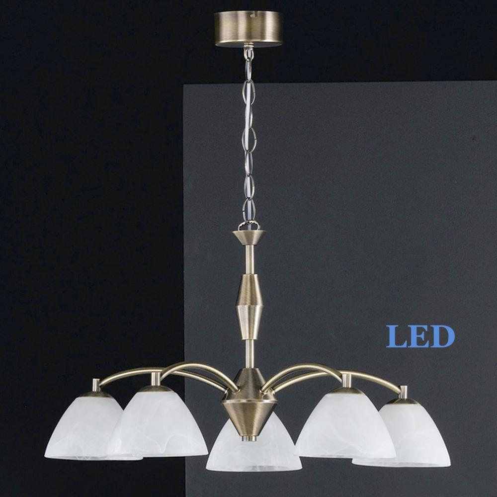 LED Pendelleuchte Honsel Leuchten Hedda 11785 altmessing