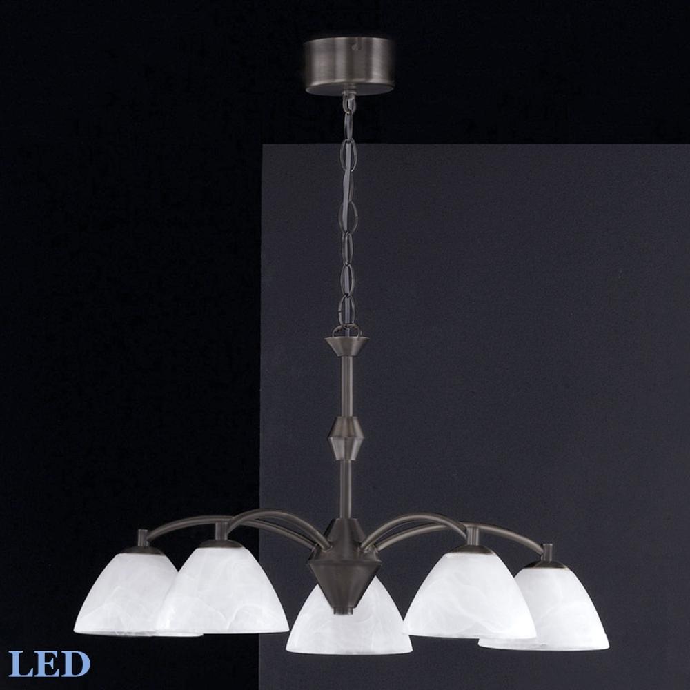 LED Pendelleuchte, Wohnzimmerlampe, Honsel 11795 braun antik Landhaus