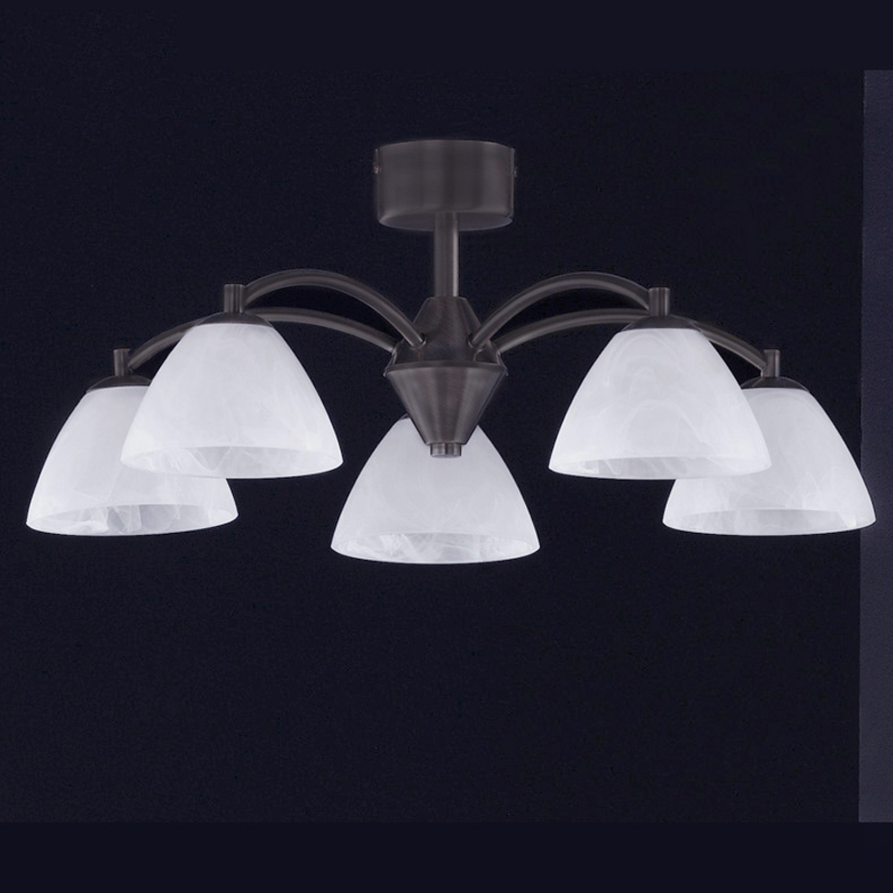 LED Deckenleuchte Honsel Leuchten Hedda 20815 braun antik