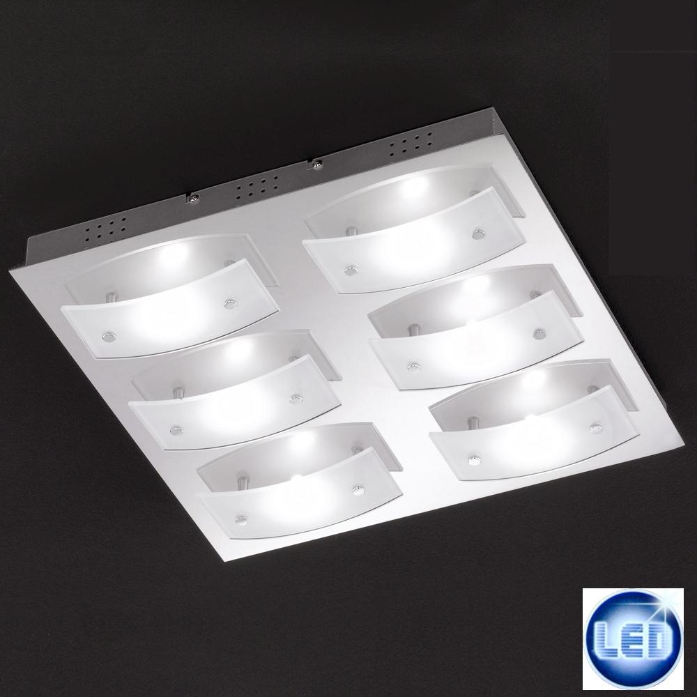 LED Deckenleuchte Honsel Leuchten 21336 Liana chrom 40x40cm
