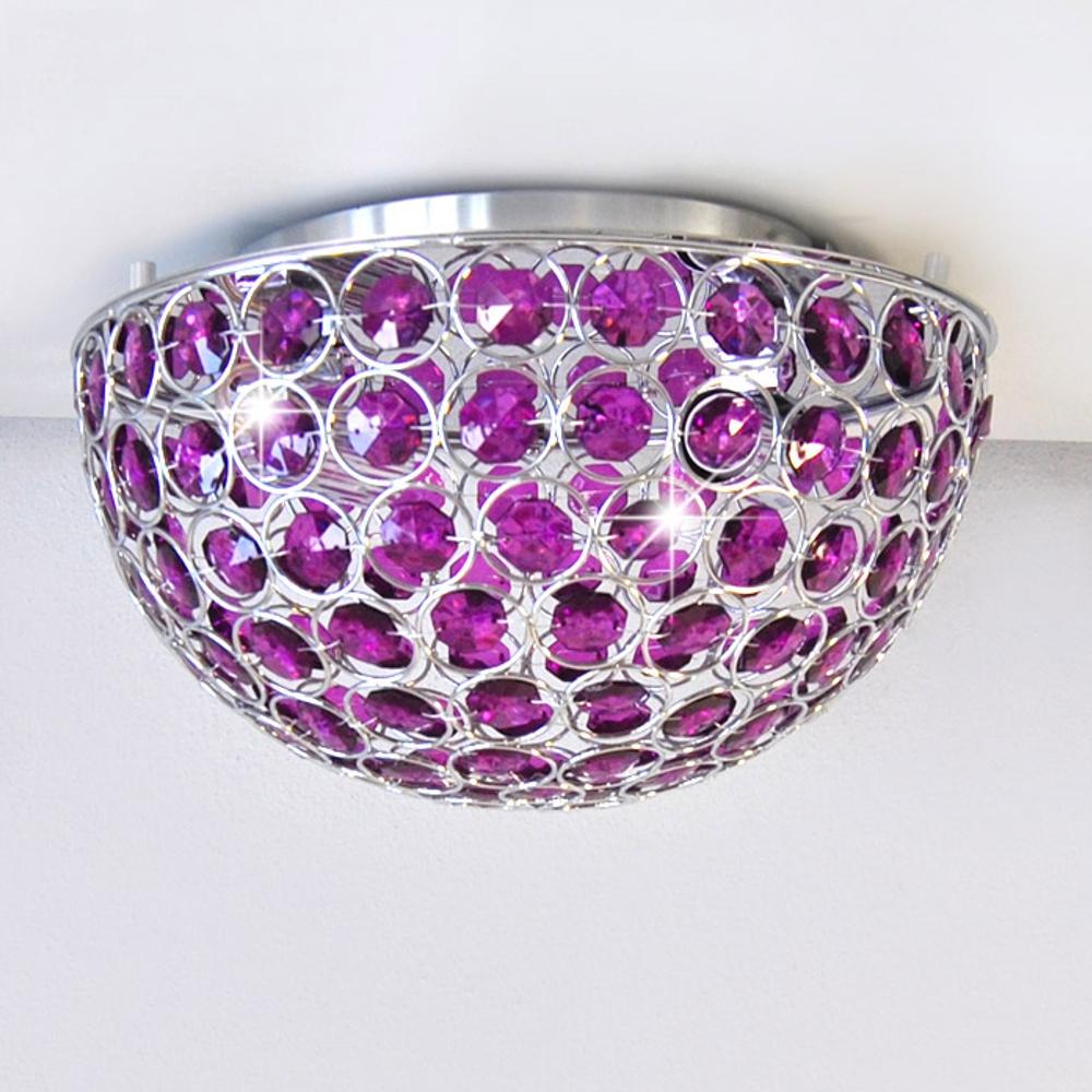 deckenleuchte 305mm design deckenlampe luster lila violett led m glich e14 ebay. Black Bedroom Furniture Sets. Home Design Ideas