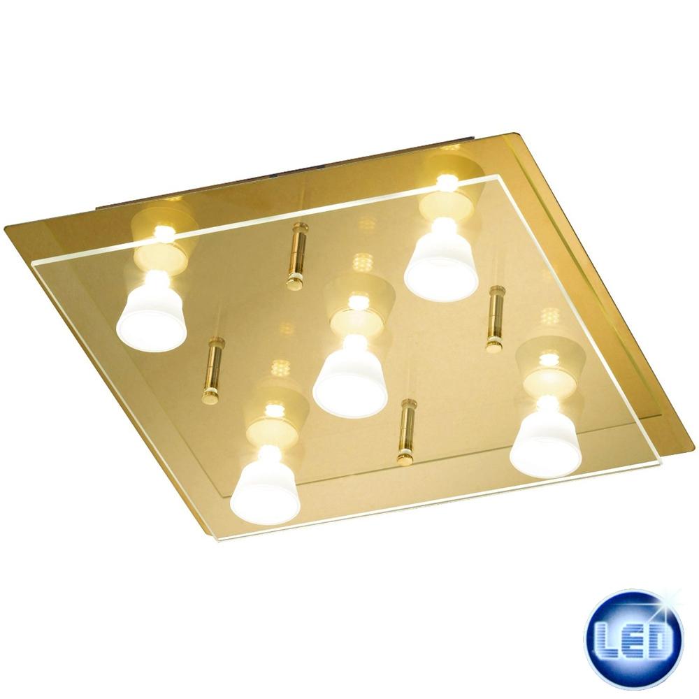 LED Deckenleuchte Honsel 29705 Lennox Messing 32x32