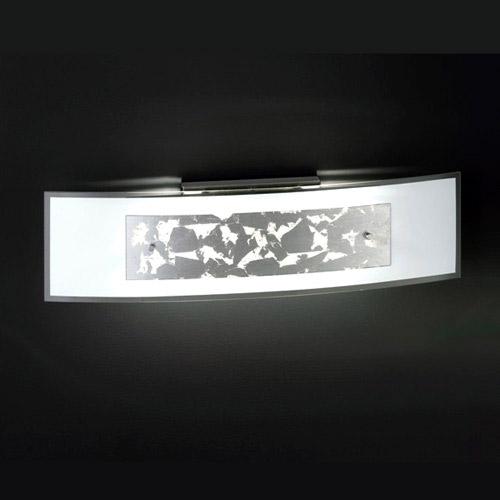 Honsel 34832 Wandleuchte Glas-Dekor silber 2xR7s