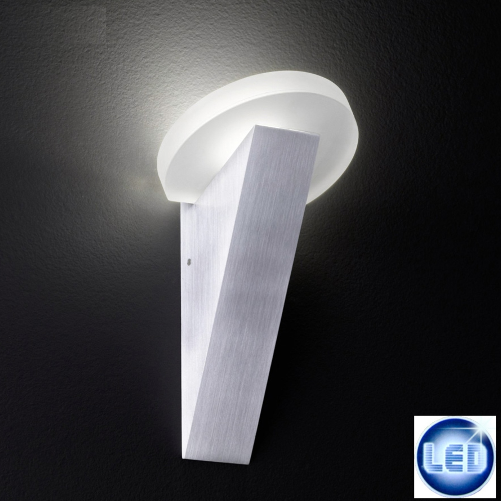 Wandleuchte Honsel Leuchten 37171 Laso Aluminium LED Wandfackel