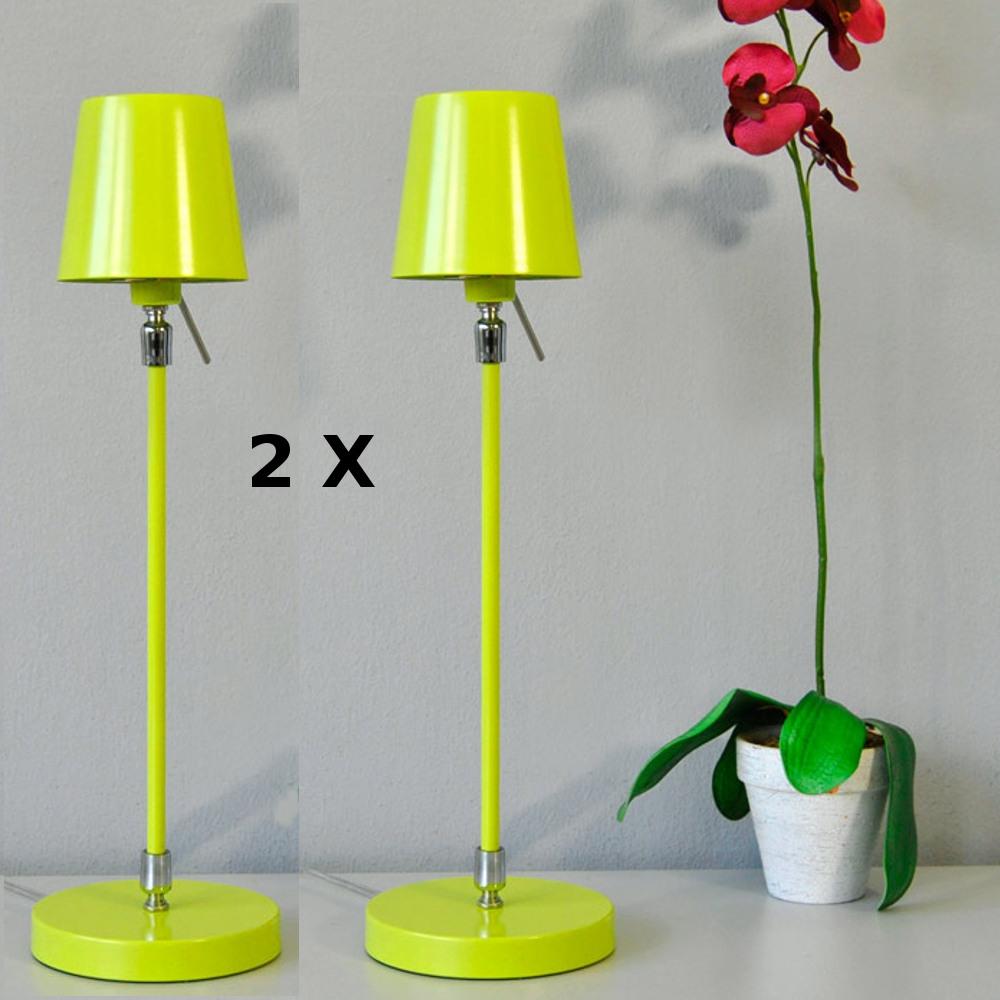 LED Tischleuchte Nachttischlampen 2er Set grün G9 Darlux 44129915