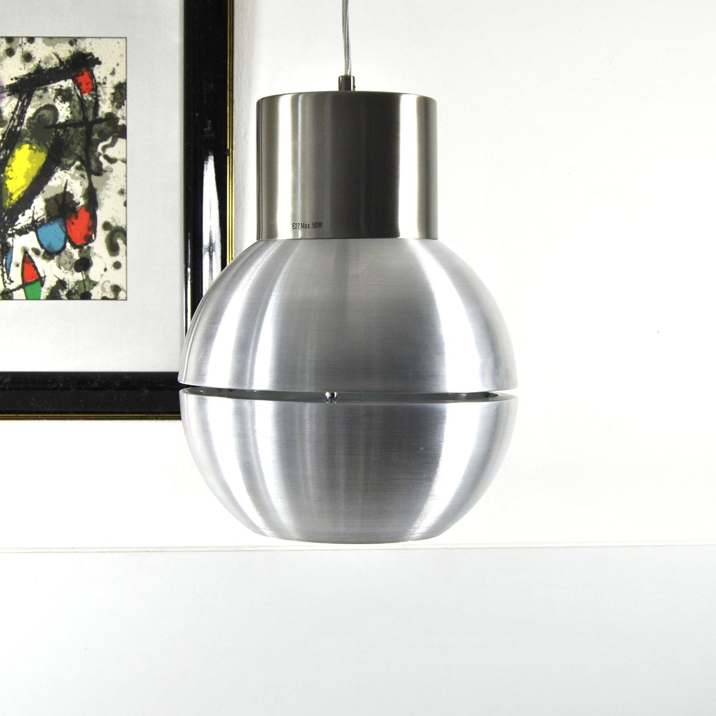 Pendelleuchte Kugel Aluminium matt Ø 28cm, Hängelampe, Honsel 60178,