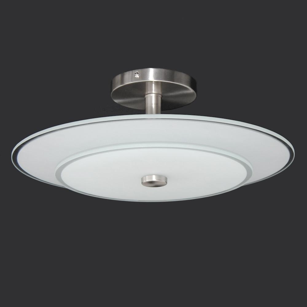 deckenleuchte design deckenlampe honsel leuchten nickel matt glas rund 0 5m wei ebay. Black Bedroom Furniture Sets. Home Design Ideas