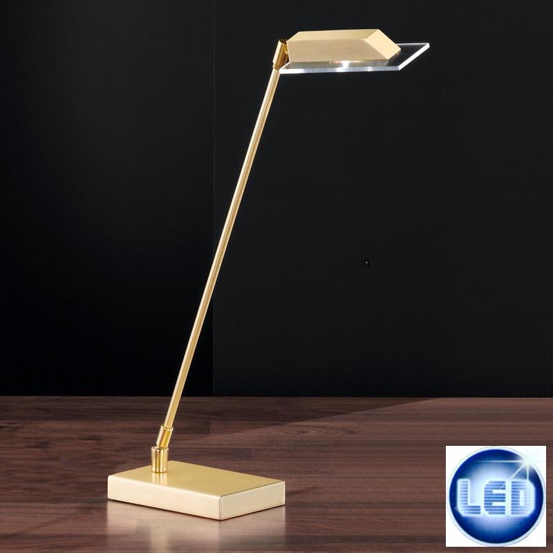 LED Tischleuchte Honsel Leuchten 93431 Lunn Messing