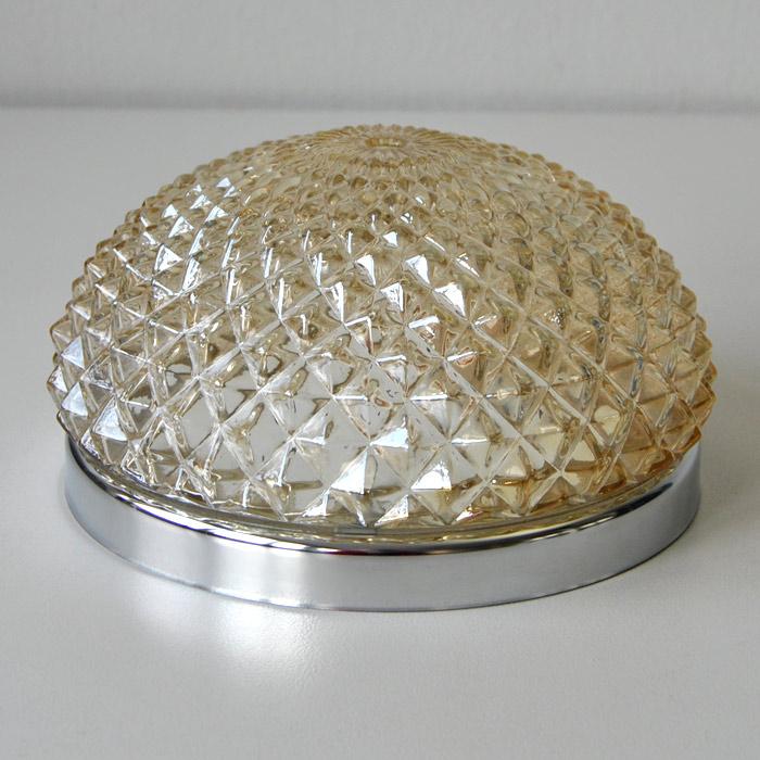 Deckenleuchte, Deckenlampe, LED möglich, Chrom Ø22cm Flur, Lampe