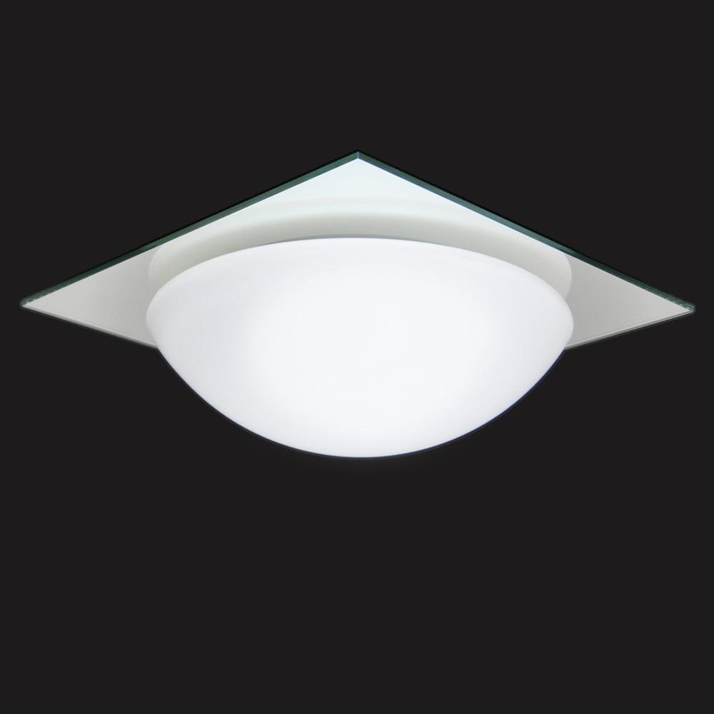 Deckenleuchte 28x28cm Ufo Verspiegelte Glasplatte