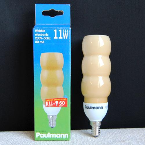 Energiesparlampe 11W Paulmann Wobble 883.35 E14