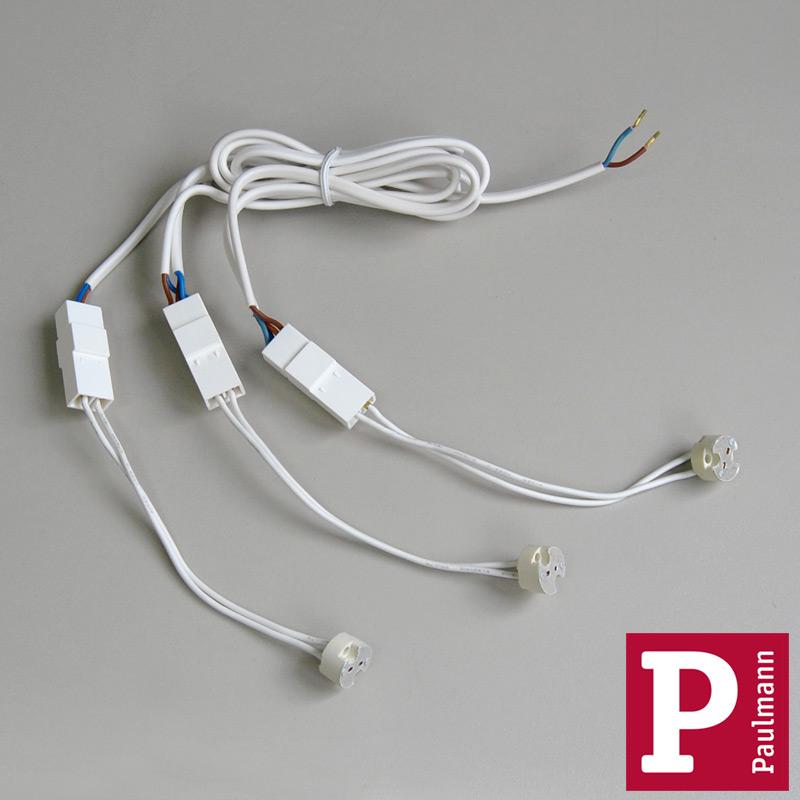 3-er Kabelsatz m. Steckverbinder, G4 Fassung 12V Paulmann