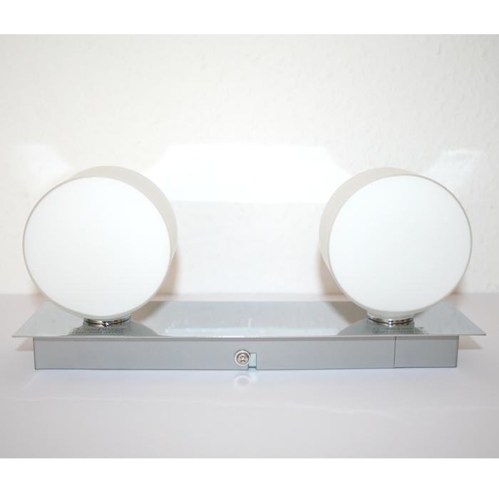 Applique murale lampe pour salle de bain spot chrome 2x33w - Eclairage mural salle de bain ...