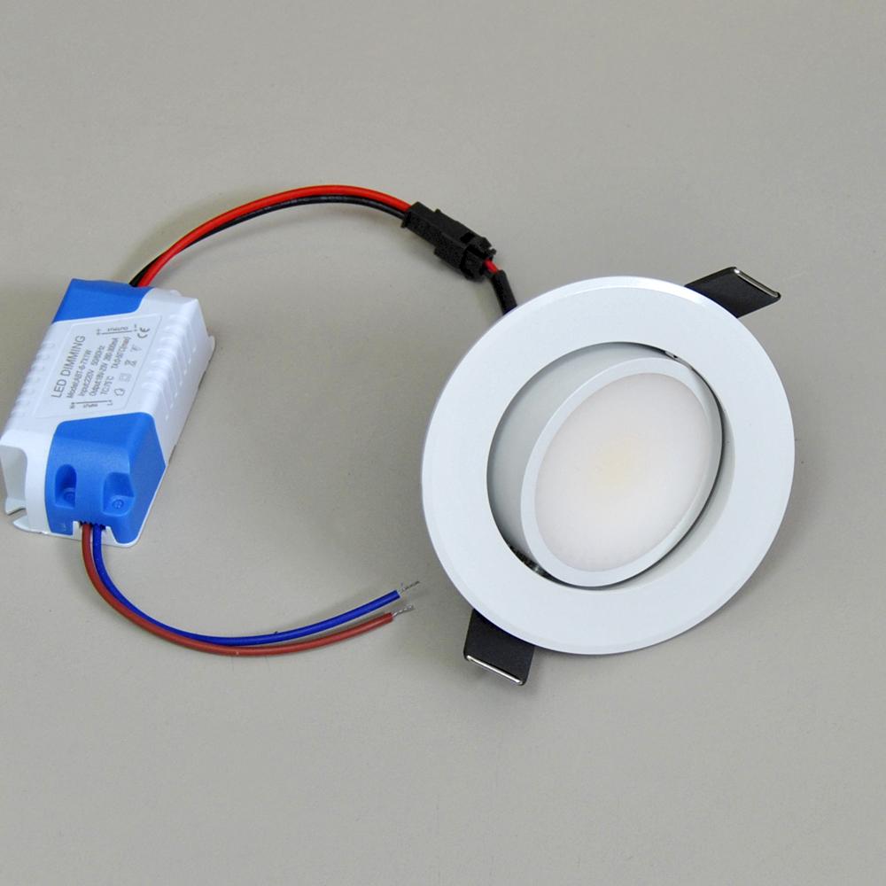 LED Einbauleuchte Ø85mm 105 weiß 6W dimmbar